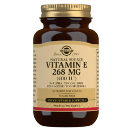 Solgar E-vitamiini 268 mg (vege), 100 softgel